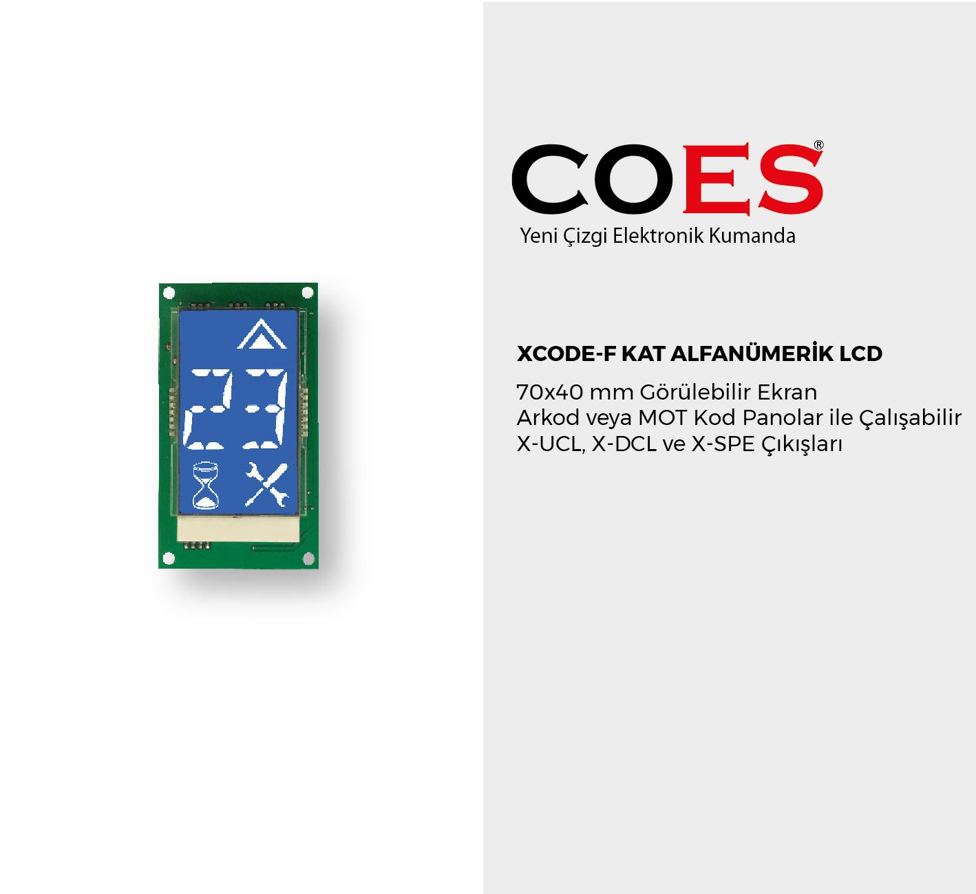 XCODE-F KAT ALFANÜMERİK LCD